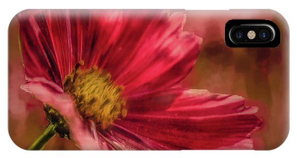 Aster Red Painterly #h1 IPhone Case