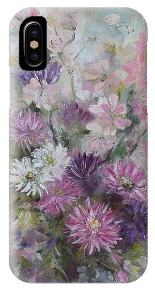 Asters And Stocks IPhone Case