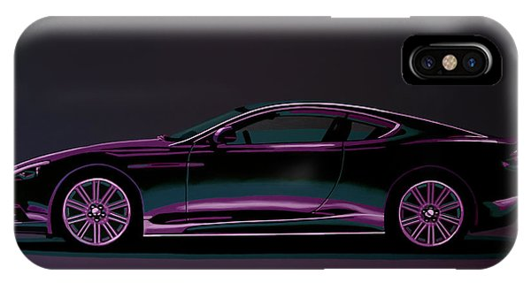 Craig iPhone Case - Aston Martin Dbs V12 2007 Painting by Paul Meijering