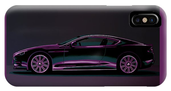 Beetle iPhone Case - Aston Martin Dbs V12 2007 Painting by Paul Meijering