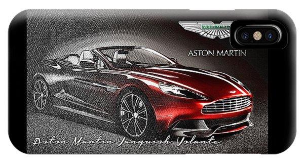 Autos iPhone Case - Aston Martin Vanquish Volante  by Serge Averbukh