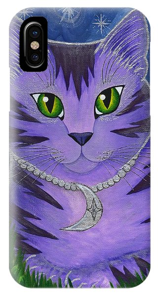 Astra Celestial Moon Cat IPhone Case