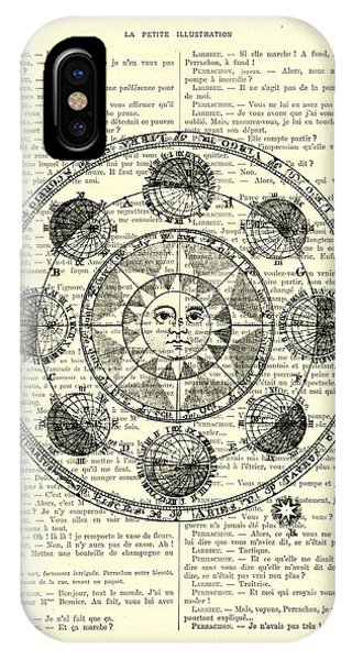 Astronomy iPhone Case - Astrology Chart, Solar System by Madame Memento