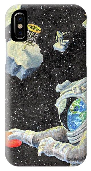 Astronaut Disc Golf IPhone Case