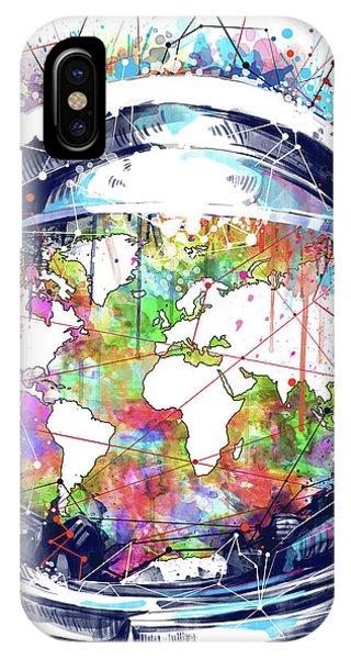 Astronaut World Map 6 IPhone Case