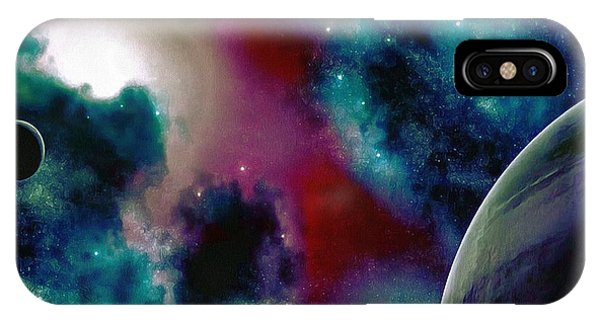Astronomy Painting Glammed Out Teal IPhone Case