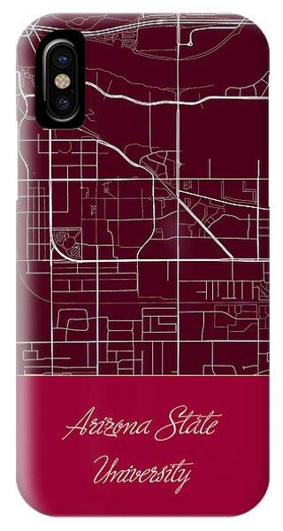 Arizona State University Tempe Campus Map.Campus Map Iphone Cases Fine Art America