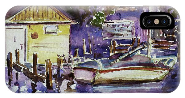 At Boat House 3 IPhone Case