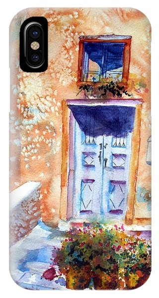 At Home In Santorini Greece  IPhone Case