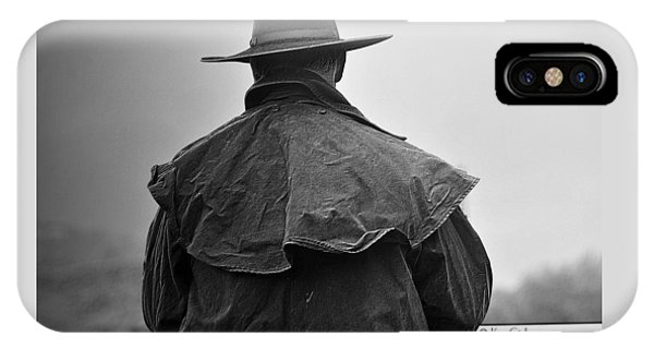 At Home On The Range #3 Black And White IPhone Case