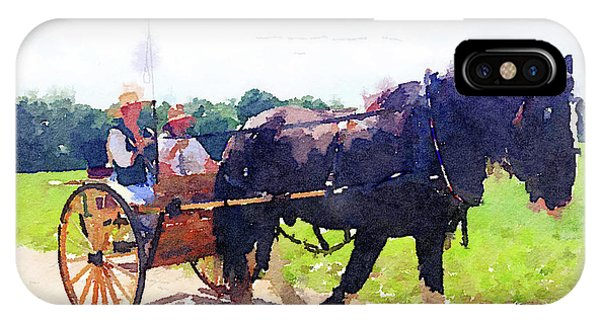 Horse And Buggy At Mount Vernon IPhone Case