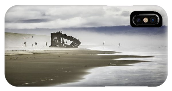 Oregon Sand Dunes iPhone Case - At Peter Iredale Shipwreck by Eduard Moldoveanu