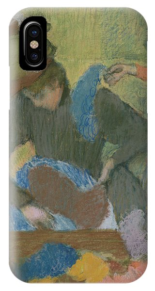 Style iPhone Case - At The Hat Maker by Edgar Degas