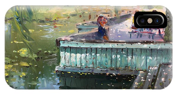Nice iPhone Case - At The Park By The Water by Ylli Haruni