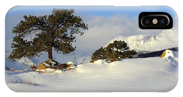 IPhone Case featuring the photograph At The Peak by Shane Bechler