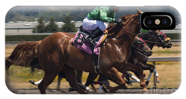 At The Races Phone Case by Ronald Hanson
