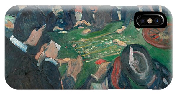 20th Century Man iPhone Case - At The Roulette Table In Monte Carlo by Edvard Munch