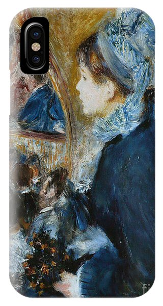 Youthful iPhone Case - At The Theater by Pierre Auguste Renoir