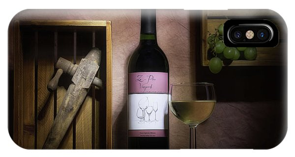Vino iPhone Case - At The Vineyard by Tom Mc Nemar