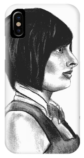 At Your Service - Bartender Art - Charcoal Drawing Illustration By Ai P. Nilson  IPhone Case