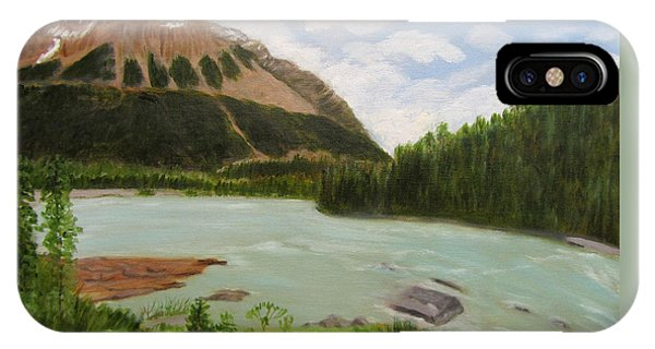 IPhone Case featuring the painting Athabasca River by Linda Feinberg