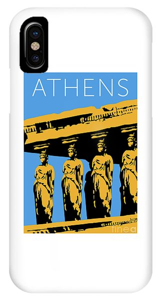 Athens Erechtheum Blue IPhone Case
