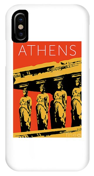 Athens Erechtheum Orange IPhone Case