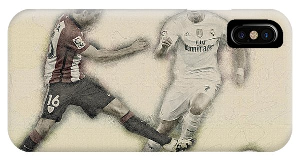 Wayne Rooney iPhone Case - Athletic Club  Vs Real Madrid by Don Kuing