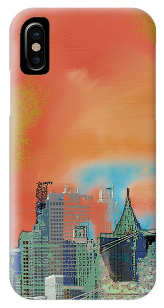Atlanta Abstract After The Tornado IPhone Case