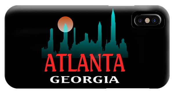 Sports Clothing iPhone Case - Atlanta Georgia Design by Peter Potter