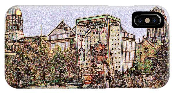 Atlanta Georgia Usa - Color Pencil IPhone Case