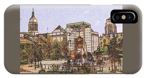 Capitol Building iPhone Case - Atlanta Georgia Usa - Color Pencil by Peter Potter
