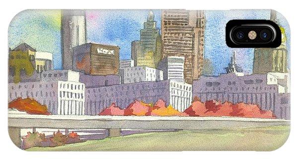Cities iPhone Case - Atlanta Skyline Color by Scott Serafy