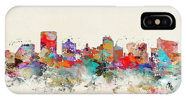 New Jersey iPhone Case - Atlantic City Skyline by Bri Buckley