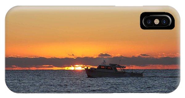 Atlantic Ocean Fishing At Sunrise IPhone Case