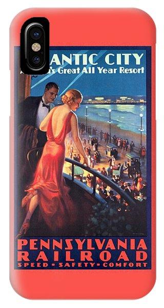 Atlantinc City - America's Great All Year Resort - Vintage Poster Restored IPhone Case