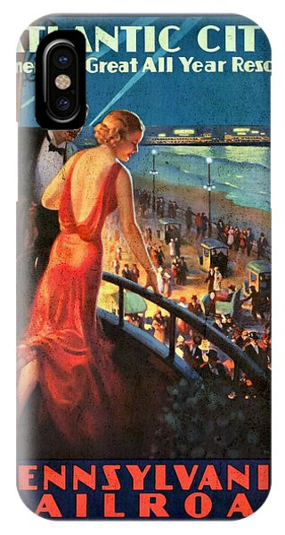 Atlantinc City - America's Great All Year Resort - Vintage Poster Vintagelized IPhone Case