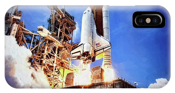 Liftoff iPhone Case - Atlantis Launch by Peter Chilelli