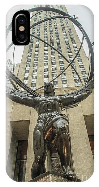 Atlas Rockefeller Center IPhone Case