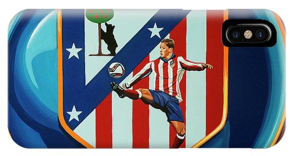 Spain iPhone Case - Atletico Madrid Painting by Paul Meijering
