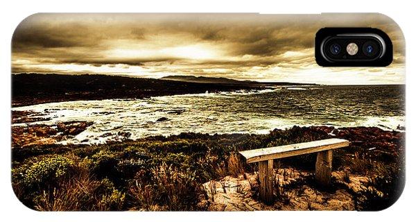Gloomy iPhone Case - Atmospheric Beach Artwork by Jorgo Photography - Wall Art Gallery