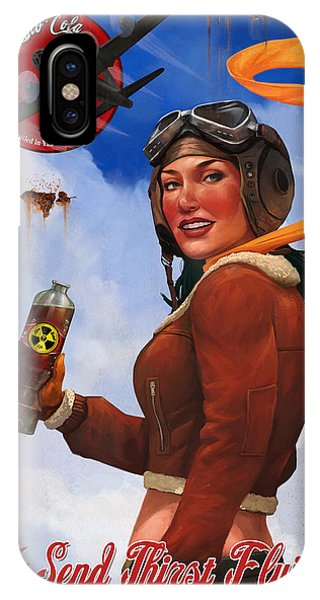 Atomic iPhone Case - Atom Bomb Cola Send Thirst Flying by Steve Goad