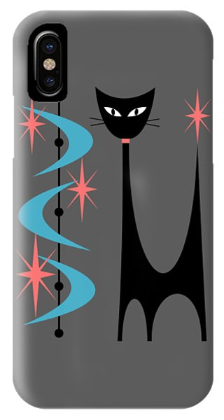 Atomic Cat Turquoise And Pink  IPhone Case