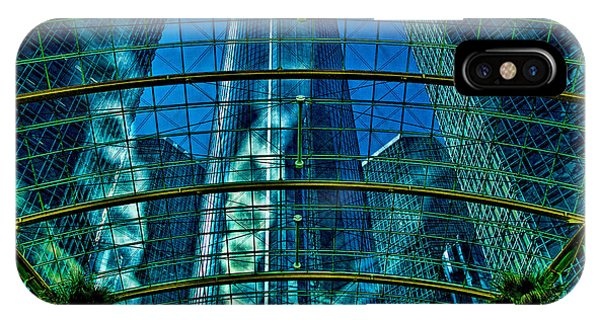IPhone Case featuring the photograph Atrium Gm Building Detroit by Chris Lord