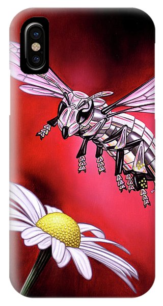 Attack Of The Silver Bee IPhone Case
