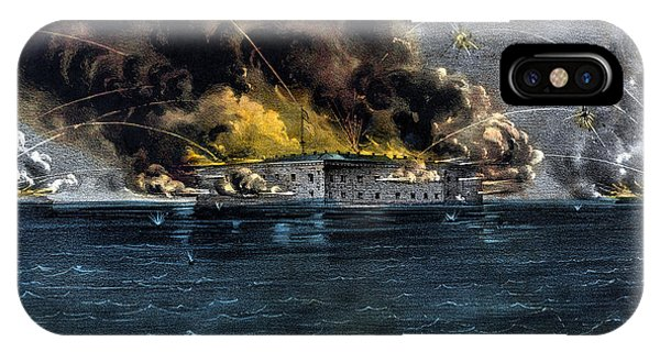 Fort iPhone Case - Attack On Fort Sumter by War Is Hell Store