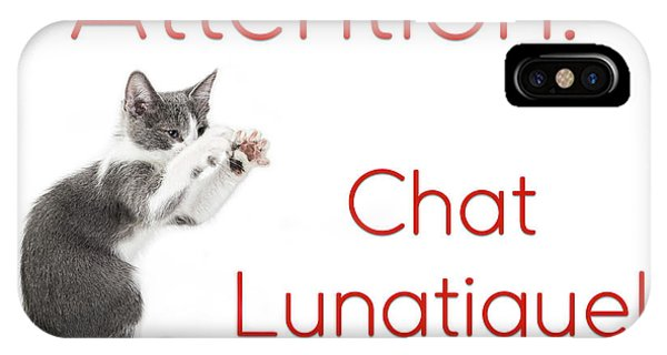 IPhone Case featuring the photograph Attention Chat Lunatique by Endre Balogh