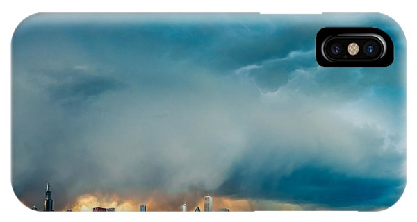 Cityscape iPhone Case - Attention Seeking Clouds by Cory Dewald