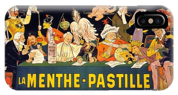 Au Tribunal De La Haye La Menthe Pastille Vintage IPhone Case