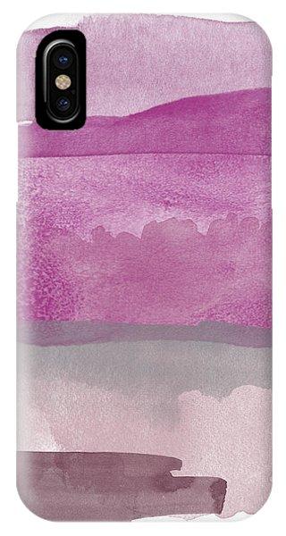 Lavender iPhone Case - Aubergine Wash- Art By Linda Woods by Linda Woods